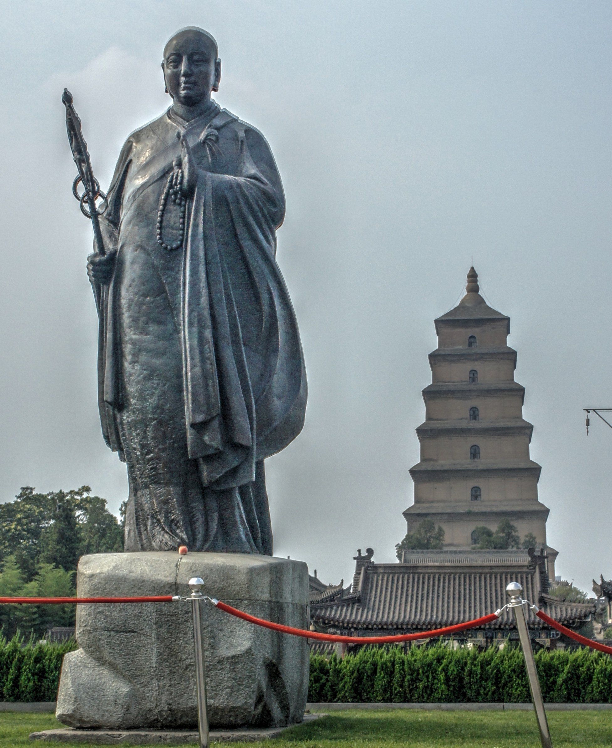 Xuanzang and the Great Wild Goose Pagoda (Xi'an)